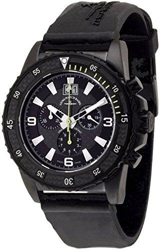 Zeno Watch PD Look Chrono Q Big Date black yellow 6478 5040Q bk s1 9