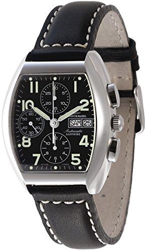 Zeno Watch Tonneau Sapphire Chronograph Day Date 3077TVDD a1