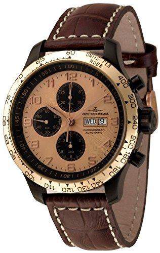 Zeno Watch OS Tachymeter Retro Chrono DD Tachymeter 8557TVDDT BRG d6