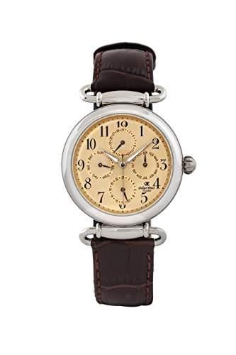 Oskar Emil, klassische Uhren, Classic Oskar Emil Matrix braun menUhr fuer Herren-Armbanduhr Analog Quarz Leder braun KL101 Matrix, Goldbraun