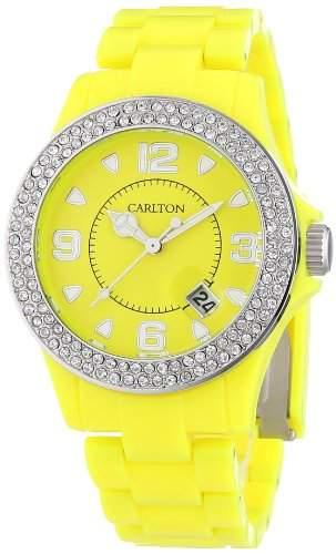 Carlton Watches Unisex-Armbanduhr Jimmyz Stones Analog Plastik W-U35048