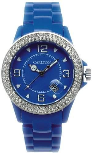 Carlton Watches Unisex-Armbanduhr Jimmyz Stones Analog Plastik W-U3507