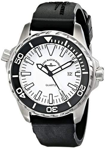 Zeno Divers Herren 48mm Schwarz Kautschuk Armband Saphirglas Uhr 6603-515Q-A2