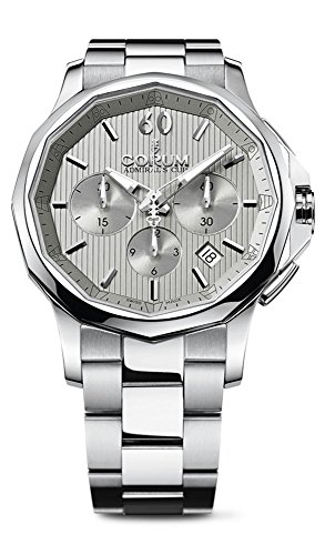 Corum Admirals Cup Legend 42 Automatic Chronograph Steel Mens Watch Calendar 984 101 20 V705 FH10