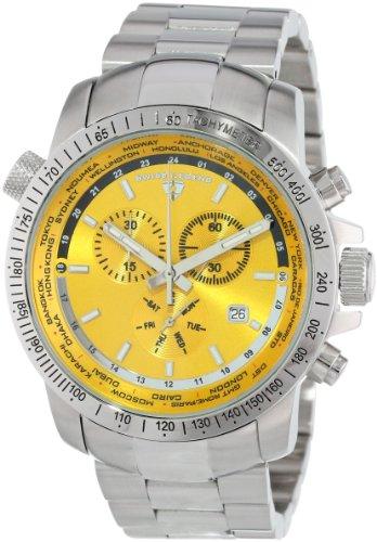 Swiss Legend 10013 77 World Timer Kollektion Chronograph Uhr aus Edelstahl
