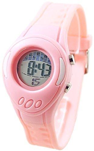 CS Charles Sernard Rosa Digital Kunststoff Armbanduhr Kinderuhr Alarm