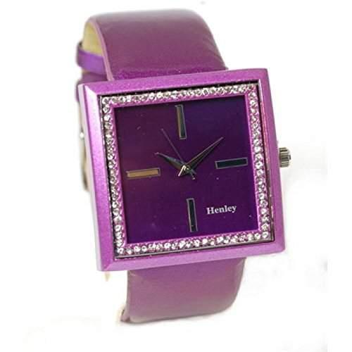 Henley Glamour Purpur Bling Uhr, Diamante Kristalle