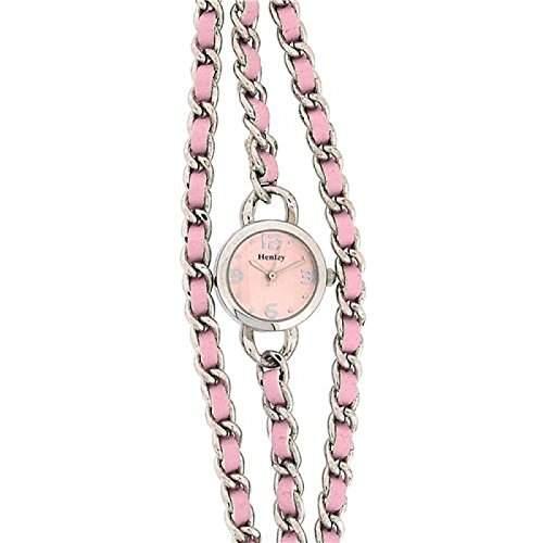 Henley Glamour Damenuhr mit rosa Mehrfacharmband und rosa Zifferblatt H071785
