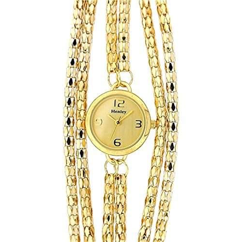 Henley Glamour Uhr mit goldfarbenem Mehrfacharmband H071792