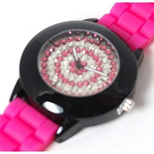 Henley glitzernde Bling rosa Damen Sportarmbanduhr