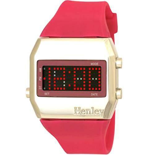 Henley - HLD0015 - Digitale Damenuhr mit pinkem Armband LED