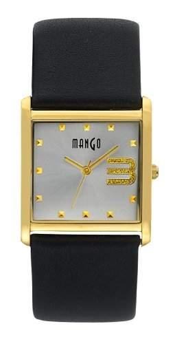 Mango Damen - Armbanduhr Analog Quarz Leder A68206D4I