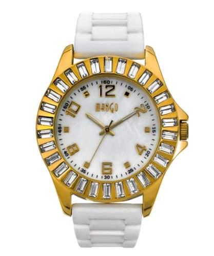 Mango Time Damen-Armbanduhr Analog Quarz Silikon weiss A12128D11P