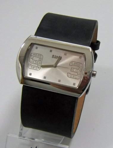 Mango Damen - Armbanduhr Analog Quarz Leder Schwarz 25015S17KV