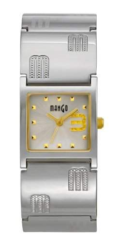 Mango Damen - Armbanduhr Analog Quarz Edelstahl A68205B4I
