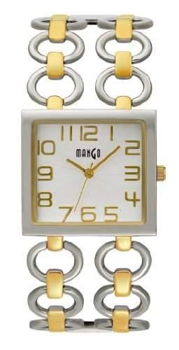 Mango Damen - Armbanduhr Analog Quarz Edelstahl BicolorA68208D4I