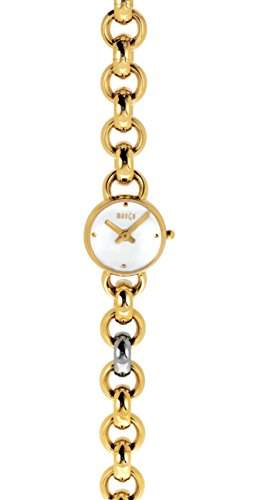 Mango Missinglink Damen-Armbanduhr Schweizer Uhrwerk Analog Quarz Edelstahl Gold A105B4KV