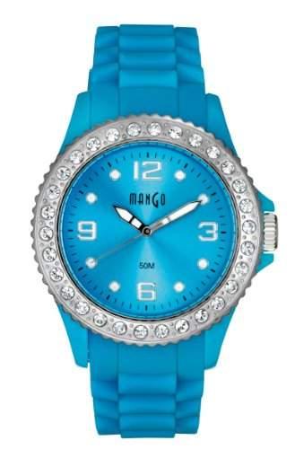 Mango Time Damen - Armbanduhr Analog Quarz Silikon Blau A68336-1B8KV