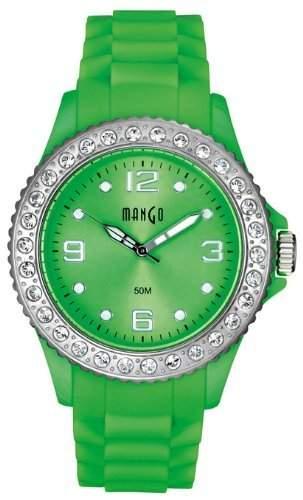 Mango Damen - Armbanduhr Analog Quarz Silikon Gruen A68336-1GR12KV