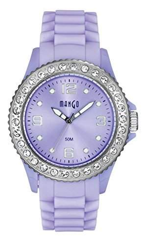 Mango Time Damen - Armbanduhr Analog Quarz Silikon Violett A68336-1PU10KVV