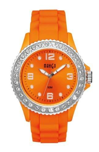 Mango Time Damen - Armbanduhr Analog Quarz Silikon Orange A68336OR17KV