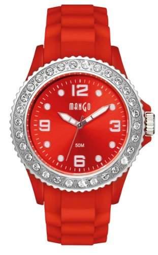 Mango Damen - Armbanduhr Analog Quarz Silikon Rot A68336R2KV
