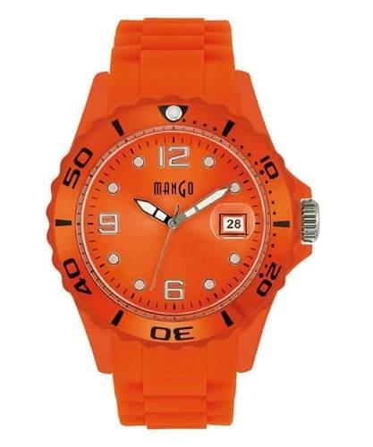 Mango Damen - Armbanduhr Analog Quarz Silikon A6833-2OR17KV