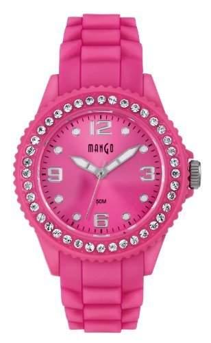 Mango Damen - Armbanduhr Analog Silikon pink A68346 - 1P14P