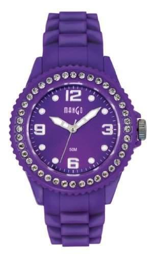 Mango Damen - Armbanduhr Analog Quarz Silikon violett A68346PU10P