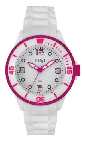 Mango Damen- Armbanduhr Analog Quarz Silikon A68353-1H4KV