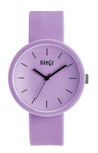 Mango Damen - Armbanduhr Analog Quarz Silikon A68356LP10I