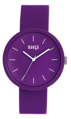 Mango Unisex-Armbanduhr Analog Silikon Violett A68356PU10I