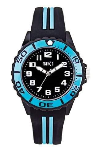 Mango Damen - Armbanduhr Analog Quarz Silikon A68359-3SS5A