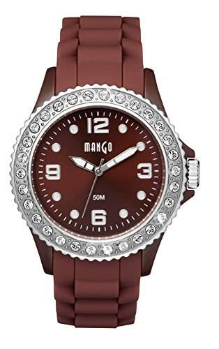 Mango Time Damen - Armbanduhr Analog Quarz Silikon Braun A68336-1BR1KV