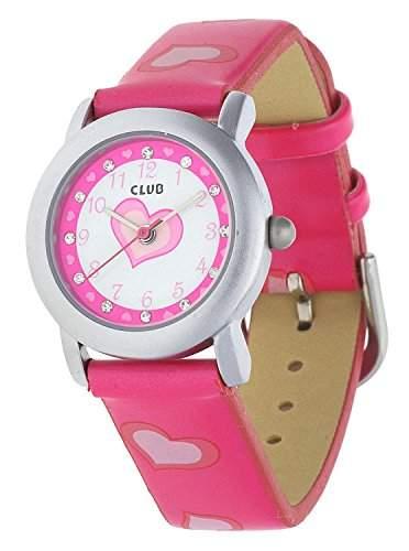 Club Maedchen - Armbanduhr Analog Quarz Herz Rosa Nickefrei A5613S2A
