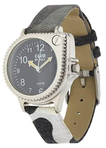 Club Jungen - Armbanduhr Militaer-Tarnung Analog Quarz mit Lupe 5 bar 65105S5A