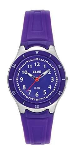 Club Maedchen - Armbanduhr Analog Quarz 10 bar Licht Silikonband A47103-PU10A
