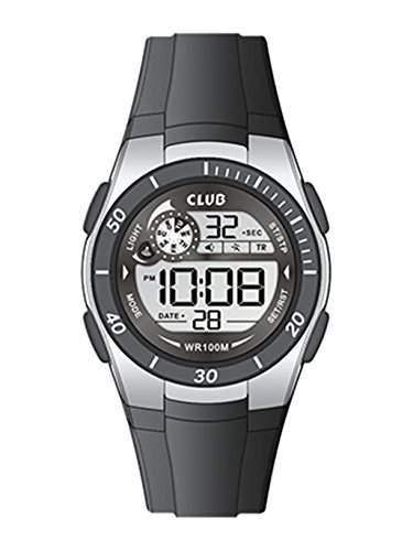 Club Unisex-Armbanduhr Digital Quarz Schwarz A47105-3S4E