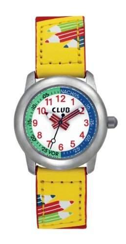 Club Kinder - Armbanduhr Analog Quarz Kinderuhr Rot  Gelb A65171-1S0A
