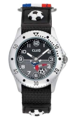Club Jungen - Armbanduhr Analog Quarz Fussball Klettband Bunt A56507S8A