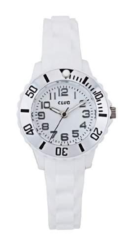 Club Kinderuhr - Maedchen-Armbanduhr Analog Quarz Silikon weiss A56523S0A