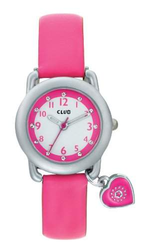 Club Maedchen - Armbanduhr Analog Quarz Rosa mit Anhaenger A56524S14A