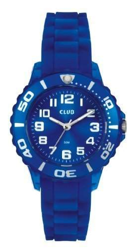Club Maedchen-Armbanduhr Analog Quarz Silikon blau A65163BL8A