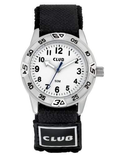 Club Jungen-Armbanduhr Analog Quarz Nylon Klettband A65164S0A