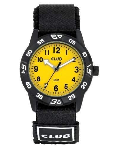 Club Unisex Kinder-Armbanduhr Analog Quarz Klettband A65164S16A