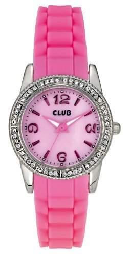 Club Maedchen-Armbanduhr Analog Quarz Silikon rosa A65166S14KV