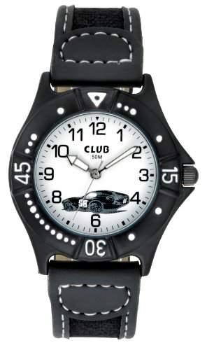 Club Jungen - Armbanduhr Analog Quarz Rennwagen Schwarz A65167SS0A