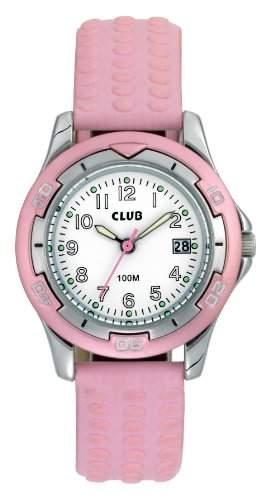 Club Maedchen - Armbanduhr Analog Quarz 10 bar,Kalender,Rosa A65168-2S0A