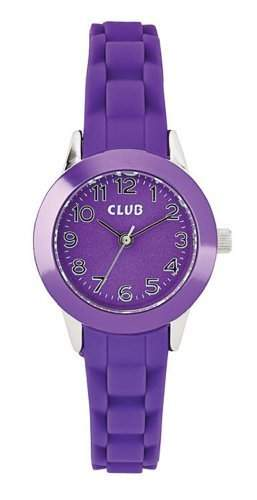 Club Maedchen-Armbanduhr Analog Quarz Silikon Violett A65170S10I