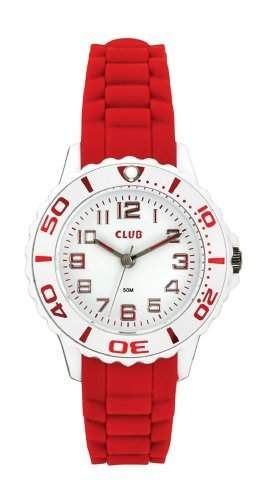 Club Maedchen-Armbanduhr Analog Quarz Silikon Rot 5 bar A65174-1H0A